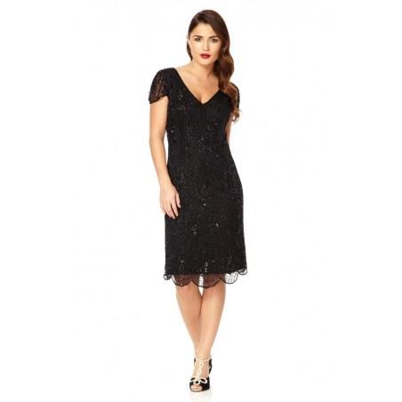 Sparkling Speakeasy Cocktail Dress in Black