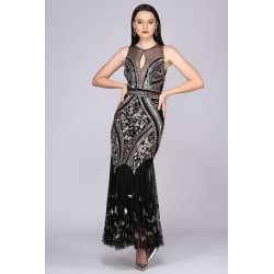 1920s Deco Embellished Gown...