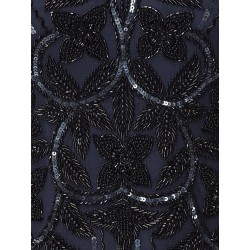 Great Gatsby Tea Length Black/Coco Dress