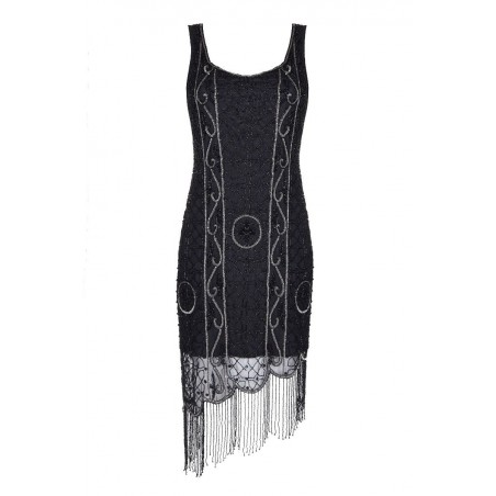 1920s Style Mother of the Bride or Groom Black/Coco Dress