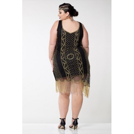 Flapper Style Embroidered Cocktail Dress