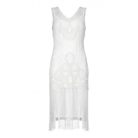 Vintage Style Empire Waist White Wedding Dress