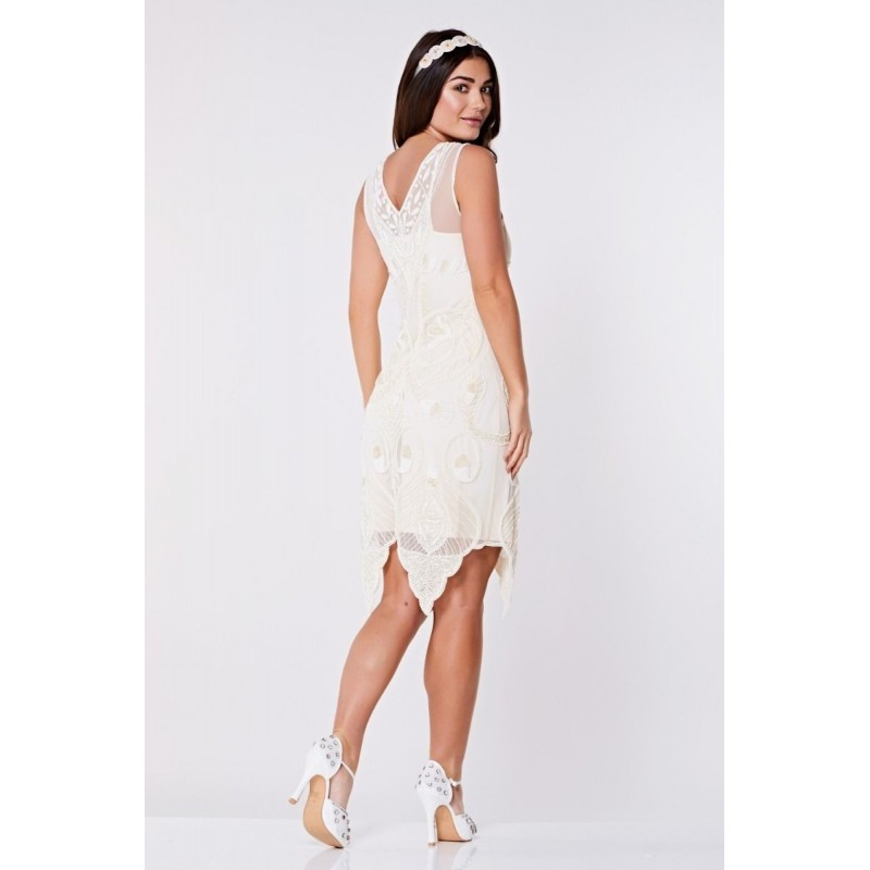 Vintage Style Inspired Amethyst Wedding Dress