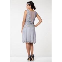 1920s Style Beige Wedding Dress