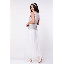 Vintage Style Classic Peach Wedding Dress