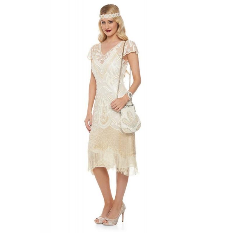 Downton Abbey Tea Length Pearl Gown