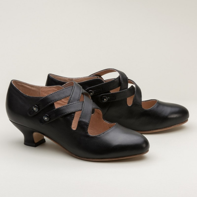 Astoria 1920s Style Shoes in Black - SOLD OUT