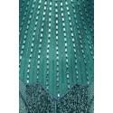 Downton Abbey Tea Length Antique Silver Gown