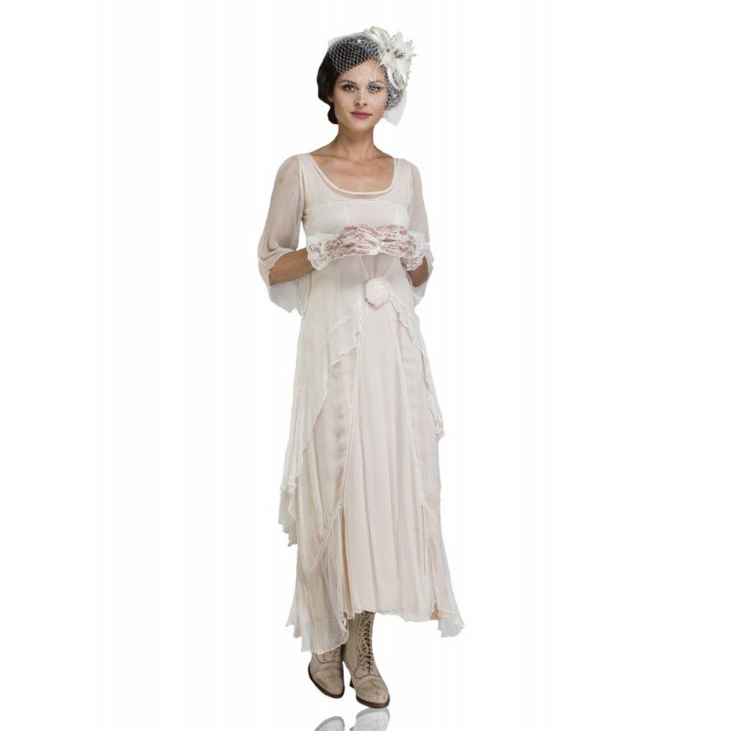 1920s Gatsby Style Party Dress in Ivory