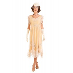 1920s Style Butter Tea Party Dress