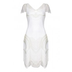Great Gatsby Party Tea Length Rose Dress