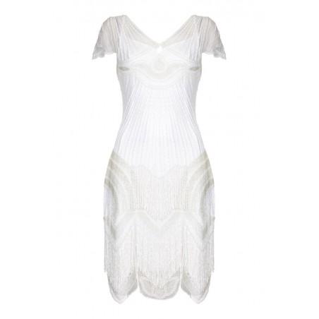 Great Gatsby Party Tea Length Rose Dress