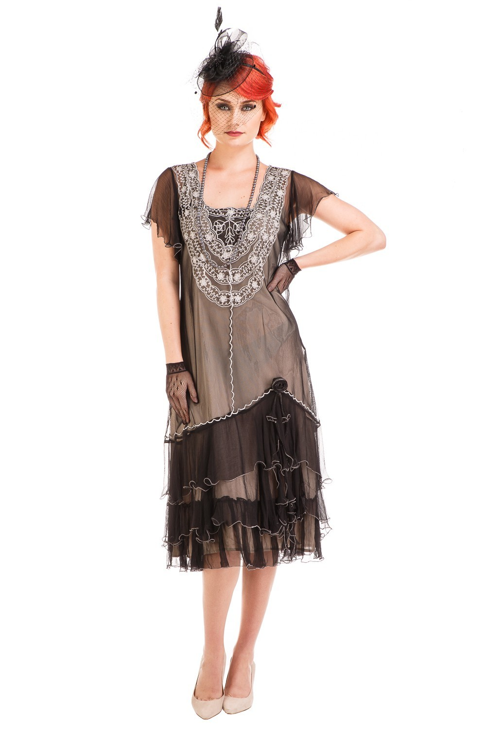 1920s Style Sunrise Tea Party Dress