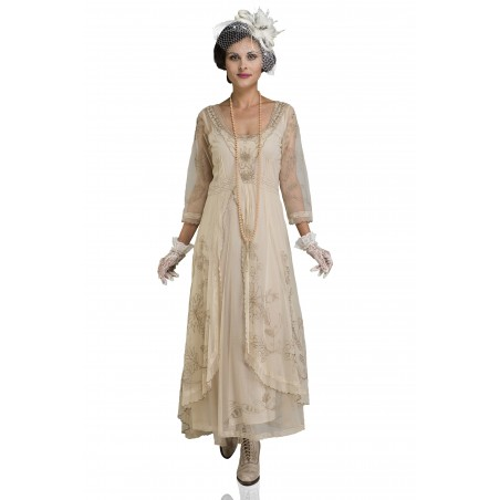 Edwardian Romance Lace Gown in Pearl