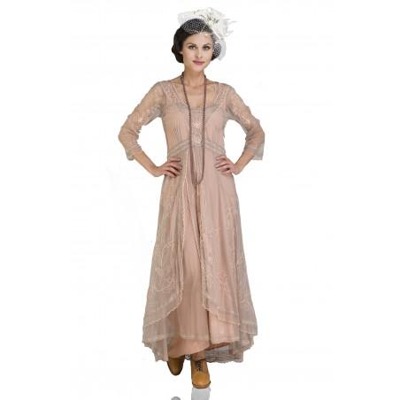 Edwardian Romance Lace Gown in Quartz