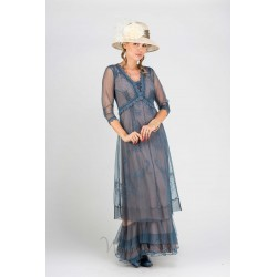 Ashby Embroidered Lace Gown...